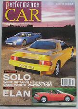 Performance CAR 11/1989 featuring Panther Solo 2, Lotus Elan SE, Porsche Carrera