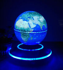 "Levitation 6"" Magnetic Rotating Globe Floating Levitating Earth 8 Led Light Usa"