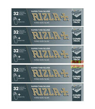 Rizla Silver Combi Pack - King Size Slim Rolling Papers + Paper Tips NEW STOCK**