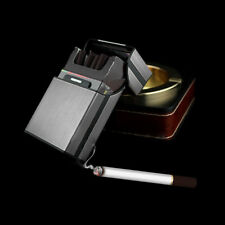 New Black Aluminum Metal Cigar Pocket Cigarette Box Holder Tobacco Storage Case