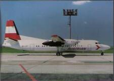 (vov) Airplane Postcard: Austrian, Fokker 50