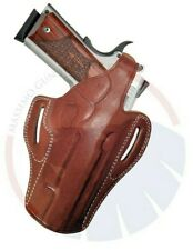 OWB Concealed Carry Leather Thumb Break Belt Holster for Colt 1911