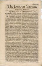 The London Gazette, published by Authority, August 10 - August 13 1685