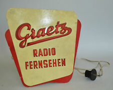 Rare Light Up Advertising Leuchtreklame Graetz Radio Television Made in Germany