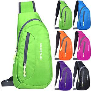 Mens Chest Pack Cycling Sport Sling Cross Body Shoulder Bag Waterproof Backpack