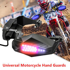 Pair of Motorcycle Hand Guards Rainproof Board with Lights Windproof Windshield
