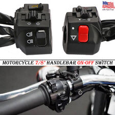 """2PCS Motorcycle 22mm 7/8"""" Handle Bar Ignition Engine Stop Lamp Horn Light Switch"""
