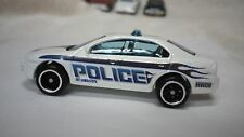 2009 Hot Wheels White Police Ford Fusion Custom Real Riders P