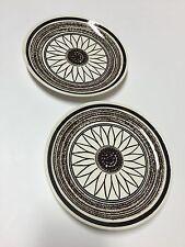 Set of 2 vintage Cavalier Ironstone dessert plates Royal China Casa del Sol