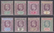 Leeward Islands 1905-08 KEVII Set Mint SG29-35 cat £200