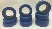 """1 12 24 48 Rolls 1"""" 1.5"""" 2"""" 60yd Blue Painters Masking Tape Premium Case 2nds"""