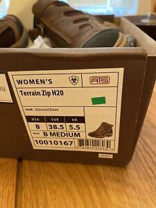Ariat Terrain Womens Zip H20 Waterproof Boots - Dark Brown