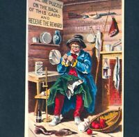 Log Cabin Miner San Francisco McClellan Diphtheria Remedy Puzzle Fever Cure Card