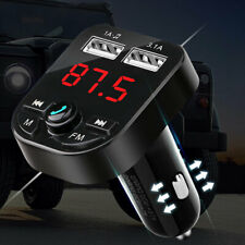 Wireless Bluetooth 5.0 Car FM Transmitter MP3 Player 2 USB Charger Handsfree Kit