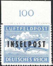 GERMANY, 1944. Insel Rhodes Military Air Mail Mi 8BII, Signed Mint