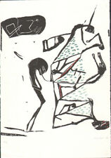 ULRIKE KIRBACH * MIXED TECHNIQUE 1988 * HAND SIGNED * ART LITHOGRAPH