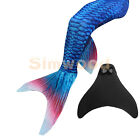 Fairy Mermaid Tail Scales Funny Monofin for Swimming Swimmable Swimwear Party