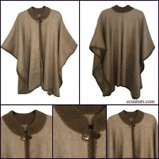 100% Handmade made in Ecuador BABY ALPACA Wool Cape PONCHO WRAP SHAWL COAT