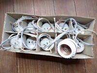 Vintage Paulding Porcelain Sign Receptacles Medium Base Screw Terminals Antique