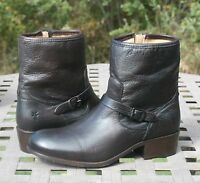 FRYE LYNN STRAP SHORT US 8.5 Woman's Western Boot Dark Brown Soft Antique