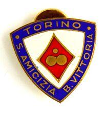 Distintivo Con Smalti S. Amicizia Borgo Vittoria Torino cm 2 x 2