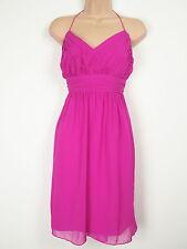 Bnwt wunderschöne rosa Chiffon Anlass Kleid Größe 16 war £ 49