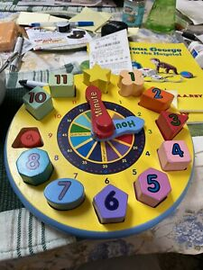 Melissa and Doug tell the time clock great educational toy