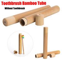 Umweltfreundlich Etui für Zahnbürste Werkzeuge aus Holz Bambus Tube Tragbar