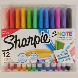 Sharpie S Note New Creative Markers Chisel Tip 12 Count No Bleed Versatile Tip