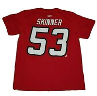Jeff Skinner #53 Carolina Hurricanes NHL Reebok Red T-Shirt - XL Extra Large
