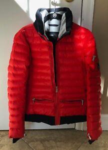 Toni Sailer Red Ski Jacket with Hood size 10