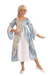 Rapunzel Blue Dress Princess Child Girls Costume Size S Small 4-6 NEW