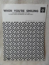 """1956 Vintage """"When You're Smiling"""" Whole World Smiles With You piano Sheet Music"""
