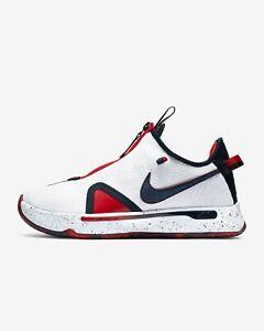 Nike PG 4 USA Red/White/Blue Men's Sizes 12 14 Basketball New w/Box (no box top)