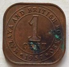Malaya & British Borneo 1 cent 1957 coin (A)