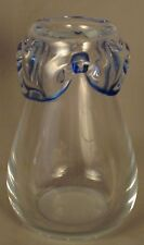 Small Heavy Gauge Glass Vase With Lobed Top