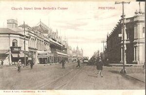 Church Street from Beckett's Corner, Pretoria, South Africa. 1906