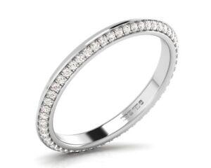 0.25CT Round Brilliant Cut Diamond Full Eternity Wedding Ring in 9K White Gold