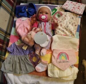 BERENGUER CHUBBY BABY GIRL DOLL HARD BODY WITH LOTS OF LOVELY EXTRAS