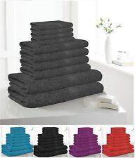 10 Piece Bathroom Bath Towel Sheet Soft Egyptian Cotton Value for money Gift ha