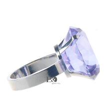 4 Purple Diamond Napkin Ring Serviette Holder Wedding Banquet Dinner Decor Favor
