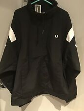 Fred Perry : Monochrome Tennis Shell Jacket ( L ) Black