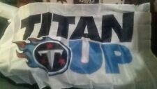 """New listing New Idegy White 3x5 ft.""""Titan Up"""" Nylon Flag Tennessee Titans,no tickets auto"""