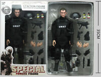 "12"" 1/6 Toy Police SWAT Action Figure Soldier Dolls Military Combat Suit Box"