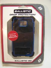 Galaxy S II S2 Cell Phone Case Ballistic SG Blue Black Drop Protection