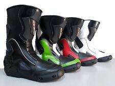 EU 38 Bianco 2 Profirst Global Ladies Stivali da Moto in Pelle Stivali da Moto Impermeabili da Motociclista con Stivali da Corsa per Donna