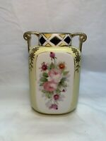 Beautiful Hand Painted Antique Nippon Floral Vase
