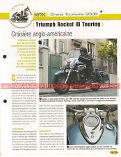 TRIUMPH 2300 Rocket III 3 Touring 2008 Joe Bar Team Fiche Moto #007609