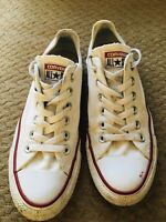 Converse All Star Low Top White Unisex Trainers UK Size 5