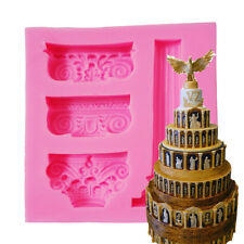 3D Marble Pillar Pattern Princess Silicone Fondant Mould Cake Ice Paste Mold